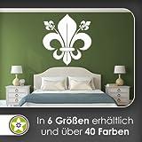 florentiner Lilie Wandtattoo in 6 Größen - Wandaufkleber Wall Sticker
