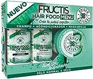 Garnier Fructis Hair Food - Pack Champú + Acondicionador + Mascarilla para Pelo Normal a Seco, con Aloe Vera H