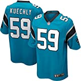59 Luke Kuechly Trikot Carolina Panthers Jersey American Football Shirt Mens Color Rush Legend Blue Color Rush Legend Size XXL(52)