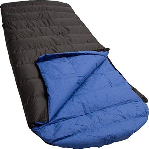 LOWLAND OUTDOOR®│Sac de couchage duvet canard │Ranger Comfort │230x80 cm │Nylon/Coton │ 0°C