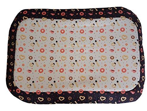 Preisvergleich Produktbild Hundehütte / Matte / Strandmatte mit Süßigkeiten,  ein Single Stück 86x56x6 nero azzurro rosa e misto