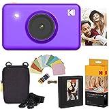 Kodak Mini Shot Instant Kamera (Lila) Luxus-Paket + Papier (20 Blatt) + Luxus-Etui + Fotoalbum + Bilderrahmen Zum Aufhängen