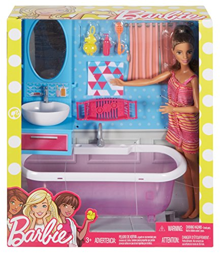 Barbie Bathroom Doll, Multi Color