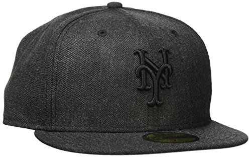 New Era Herren TOTAL Tone Fitted NEYMET HBK Cap, Black, 7 12-59,6cm (L) New York Mets Baseball