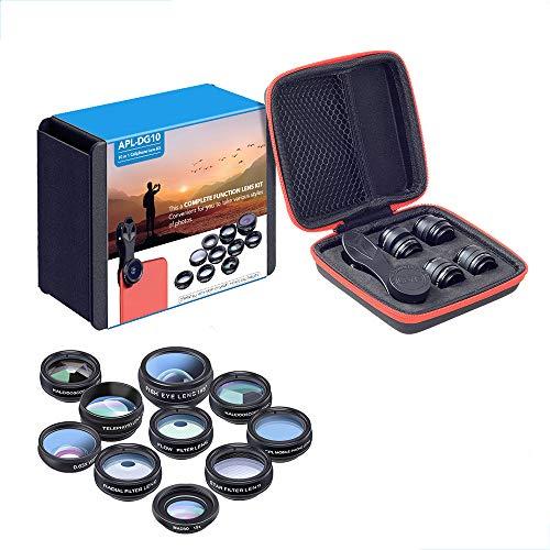 Zach-8 Smartphone-Kamera-Objektiv, 10-In-1 Universal-Außen Handy-Objektiv-Filter Fisheye Weitwinkel-Makro Erhöhung Polarisation Geeignet Für Die Meisten Smartphone