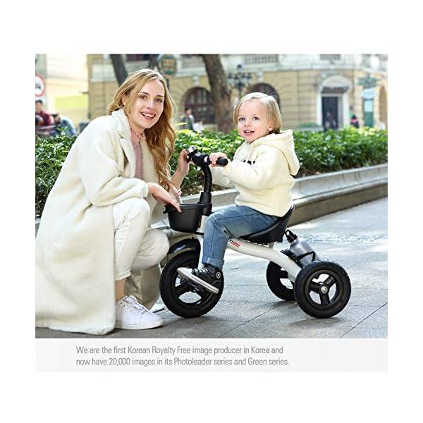 GSDZSY - Children Kids Tricycle 3 Wheel Bike,High Carbon Steel Body, EVA Wheel, Seat And Handlebars Adjustable,2-6 Years,B GSDZSY  2