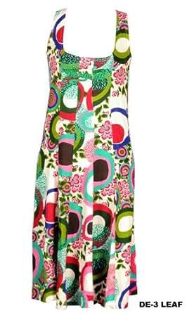 """Desigual """"LEAF"""" Dress Kleid mit buntem Druck - mit Desigual Schriftzug auf der Brust - HAMMERPREIS (DE-03) (S)"""
