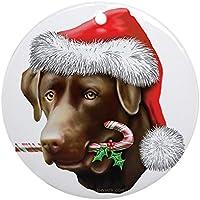 CafePress–Chocolate Lab decorazione natalizia (rotondo)–Vacanza decorazione natalizia