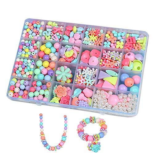 BJ-Shop Cuentas Abalorios,DIY Beads Granos Coloridos de la Pulsera de plástico Cultivar...