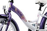 BIKESTAR® Premium Kinderfahrrad für sichere und sorgenfreie Spielfreude ab 6 Jahren ★ 20er Classic Edition ★ Candy Lila & Diamant Weiß -