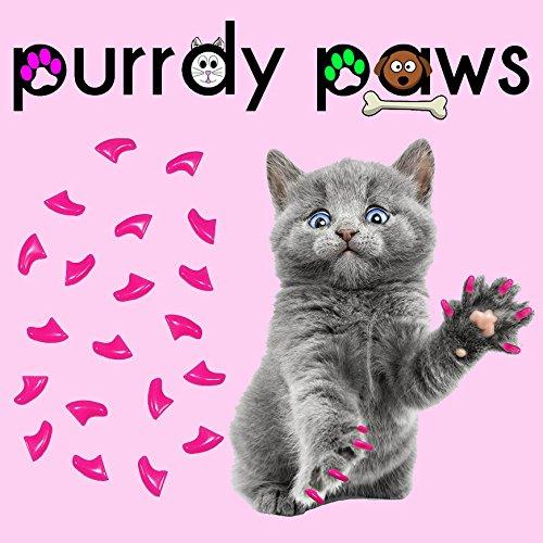 40er Soft Nail Kappen für Katzen Krallen Lippenstift Pink * purrdy Pfoten Marke Cat Claw Caps Pink