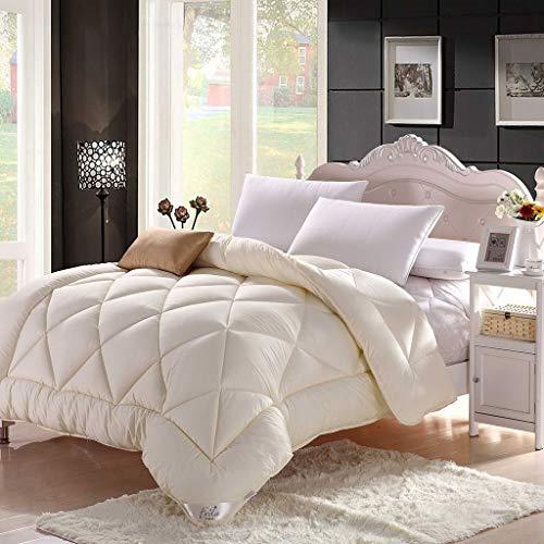 Bettdecken White Four Seasons warme Gesteppte Schlafzimmer Doppelbett Kinderbettausstattung (Size : 220X240cm)
