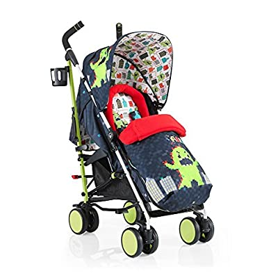 Cosatto Supa 2018 Baby Stroller, Suitable from Birth to 25 kg, Monster Arcade  Hujindong