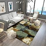 DAMENGXIANG Grün Braun Abstrakten Stil Teppich Für Wohnzimmer Couchtisch Zimmer Schlafzimmer Mat Rutschfeste Boden Teppich Soft Home Decor 80×120 cm