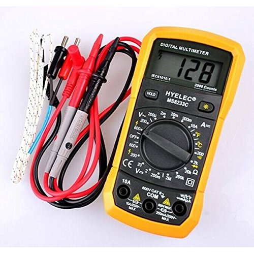mark8shop HYELEC MS8233C Multifunktions Mini Digital-Multimeter mit Summer DMM AC DC Temperatur Test Back Light Multimeter Amperemeter MultiTester Dmm-digital-multimeter
