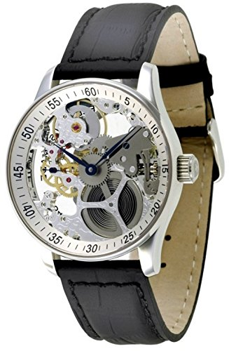 Zeno-Watch Herrenuhr - X-Large Retro Skeleton Retro - P558-9S-e2