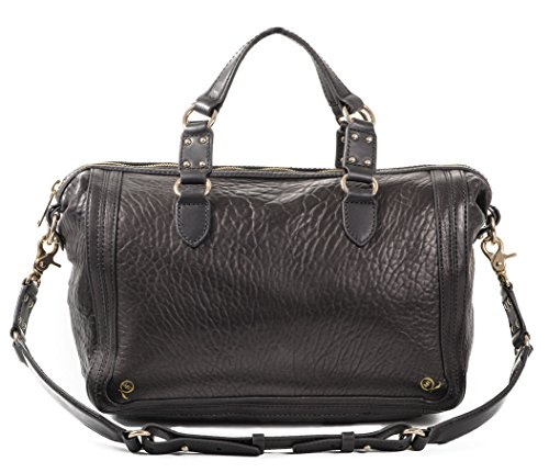 McQ ALEXANDER McQUEEN BORSA THE YT BUBBLE LEATHER BLACK