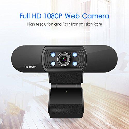 MTTLS HD Webcam 1080P Kamera Mit Mikrofon Clip-On CMOS Web Cam Eingebaute 4-Teilige Weiße Lichter Für Desktop Oder Laptop