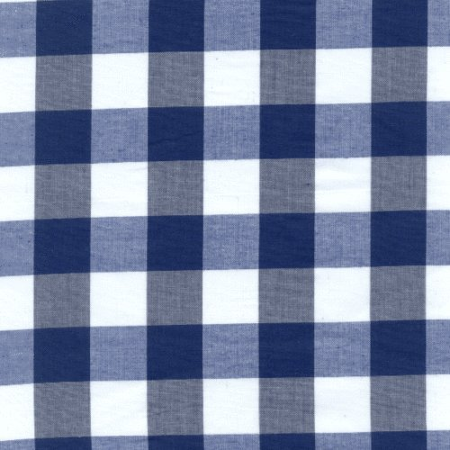 Royal Blue GINGHAM POLY COTTON CHECK TABLE CLOTH COVER Size 110x110cm Royal Blue Round Table Cover
