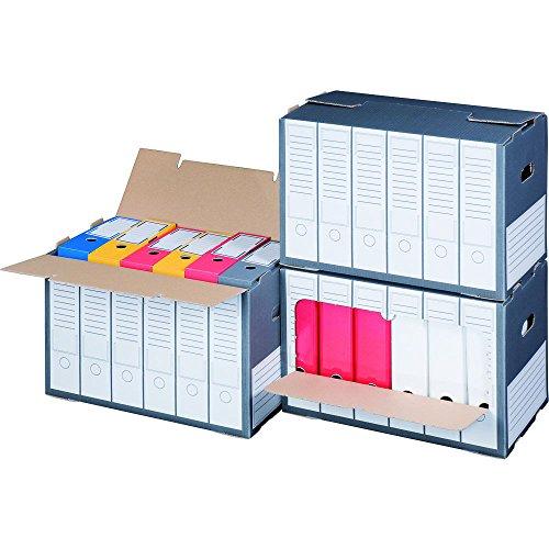 Archivregal für Ordner mit Sichtfenster und Deckelöffnung Premium, anthrazit