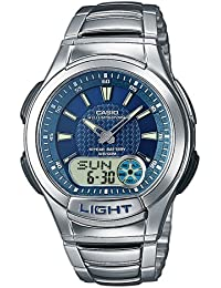 CASIO Collection AQ-180WD-2AVES - Reloj de mujer de cuarzo, correa de acero inoxidable