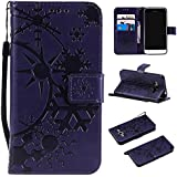 Samsung Galaxy J1 (2016) J120 Case, Danallc Luxury PU Leather Wallet Flip Protective Case Slim Case Cover With Card Slots And Stand For Samsung Galaxy J1 (2016) J120 Purple