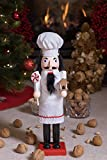 "Baker Chef Nutcracker by Clever Creations | Baker Wearing White Apron with Red Trim and White Chefs Hat | Collectable Festive Christmas Decor | 100% Wood Perfect for Shelves and Tables | 15"" Tall Bild 6"