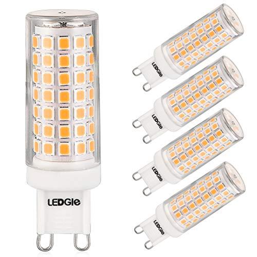 LEDGLE 8W G9 LED Lampen Warmweiß 3000K Kein Flimmern, Nicht Dimmbar, 700LM ersetzt 80W Halogenlampen, 5er Pack
