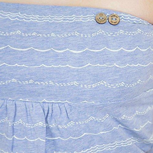 Ragwear Damen Bandeautop Light Blue Mel