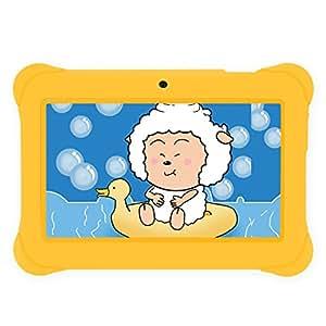 "iRULU BabyPad 1 Tablet (Y1) Kid-proof Android 4.4 Google Play 8GB Regalo per bambini 7"" Risoluzione 1024X600-RAM 1GB-Giallo"