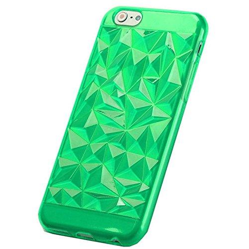 TPU Silikon Cover Diamant Smartphone Hülle Case Bumper Samsung Galaxy iPhone, Farben:Gold;Für Handy Modell:Samsung Galaxy S4 i9500 Grün