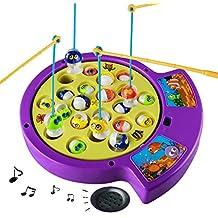 Musical Elettrico Gioco Della Pesca Pesci,Compresi 4 Canne,21 Pesci