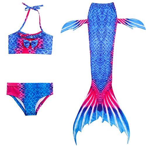 Meerjungfrauen Bikini Badeanzüge Prinzessin Bademode, Modell 8 (130) (Sport Themen Kostüme Für Mädchen)