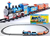 #8: Curtis Battery Operated Train Track Toy Set (14 Pieces)