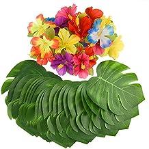 Kuuqa 60 piezas decoraciones para fiestas tropicales 8