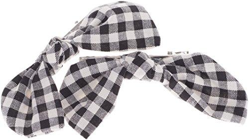 Vintage XENIA Schleifen BOW Pepita Haarspange - 1 Paar Rockabilly