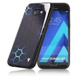 PULSARplus® Handyhülle kompatibel mit Samsung Galaxy A5 2017 Hülle Schutzhülle dünn Case Cover Blue Glow Design schwarz