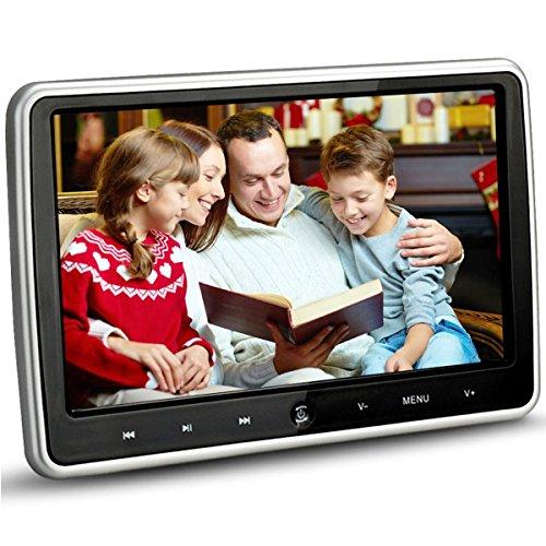 Cherryou 10.1 Pouces HD 1024 * 600 HDMI USB SD IR / FM Ultra Mince Numérique Tactile Clé LCD Écran Voiture Lecteur DVD Appui-Tête Moniteur