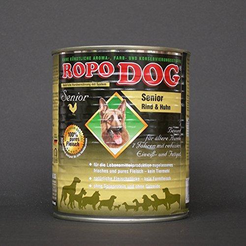 RopoDog 30lattine da 800gr Senior bovina & Pollo-96% carne