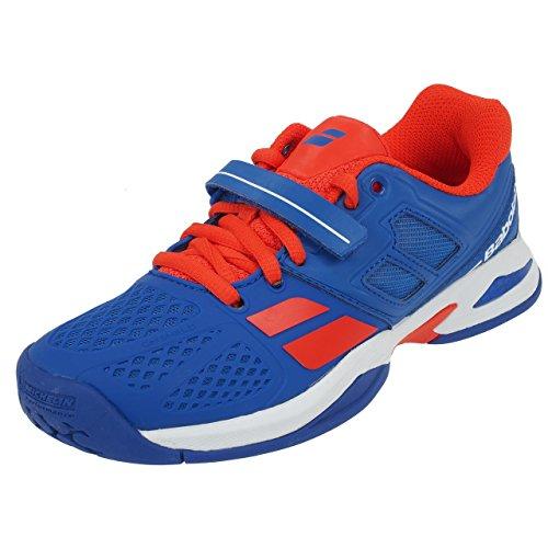 BABOLAT Propulse All Court Chaussures Enfant, Bleu/Rouge, 34