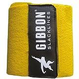 Gibbon Slacklines Classic Line mit Tree Pro, Gelb, 25 Meter (22,5m Band + 2,5m Ratchendband), Anfänger, Beginner und Einsteiger, inklusive Baumschutz, Ratschenschutz und Ratschenrücksicherung, 50 mm breit, perfekter Freizeitsport - 4