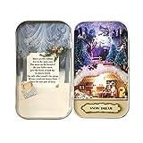 Oshide Schön Puppenhaus in der Box Vintage Design Mini Haus Mit Licht als Kinder Weihnachten Geschenk 3#
