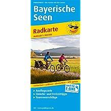 Bayerische Seen: Radkarte mit Ausflugszielen, Einkehr- & Freizeittipps, wetterfest, reissfest, abwischbar, GPS-genau. 1:100000 (Radkarte / RK)