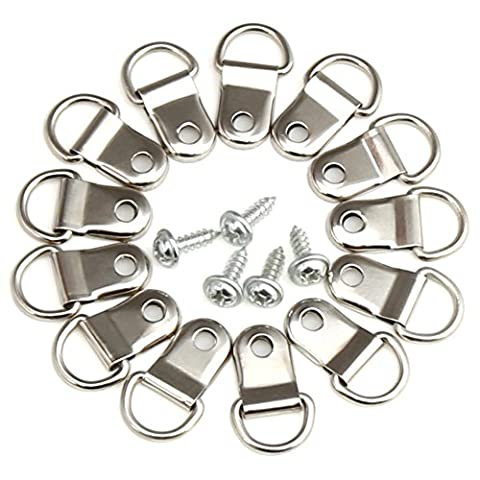 H&S 200 x D Rings Picture Photo Frame Hanging Hooks