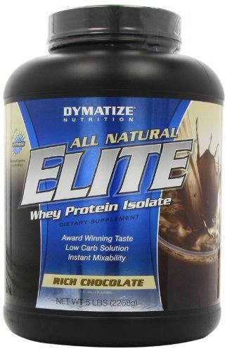 Dymatize Nutrition Elite Natural Whey Protein Isolate, Rich Chocolate, 5-Pounds by Dymatize (English Manual) - Elite Manual