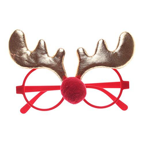 ODN Weihnachts Party-Gläser, Weihnachts Brillen Rahmen Stützen Weihnachts Schmuck Brillen Weihnachtskostüm Verzierungen Geschenke (Style 3)