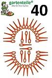 40 Ersatz Messer Passend für Güde RT 250/18 Li Ion Akku Rasentrimmer/Messer / Messerchen/Plastikmesser / Trimmermesser