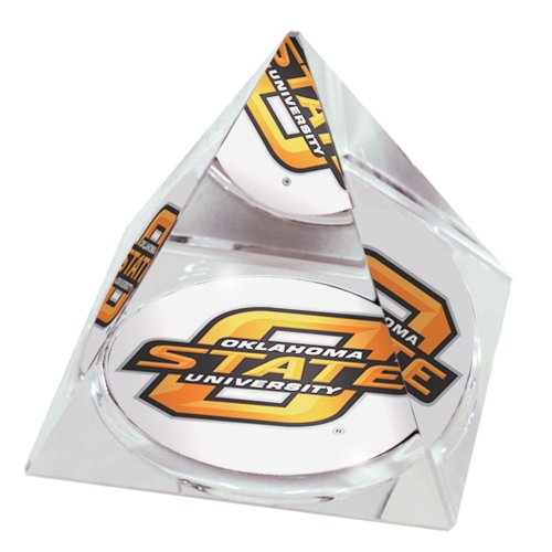Sports Collector's Guild NCAA Oklahoma State University Cowboys Logo in 5 cm Kristallpyramide mit Farbiger Geschenkbox mit Sichtfenster Oklahoma State University