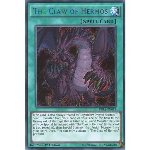 YuGiOh : DRL2-EN013 1st Ed The Claw of Hermos Secret Rare Card - ( Dragons of Legend 2 Yu-Gi-Oh! Single Card )