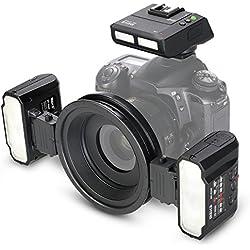 Meike MK-MT24 Macro Twin Lite Flash pour Nikon appareils photo reflex numériques